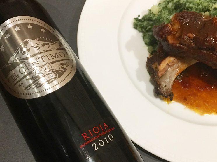 El Centimo Rioja and Braised Spare Rib
