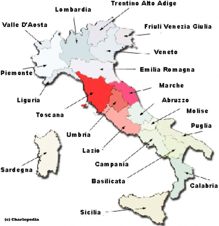 Wine Regions Italy Map.Central Italy Wines Not Named Tuscany A Closer Look At The Wines